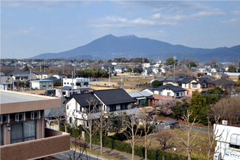 6階から見える筑波山と周りの景色